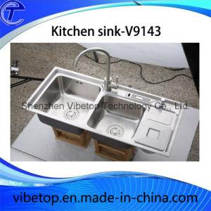 Uniek Roestvrij staal 304 van de Stijl van de Uitvoer de Gootsteen van de Keuken