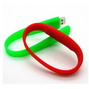 Оптовая торговля персонализированные силиконовый браслет USB