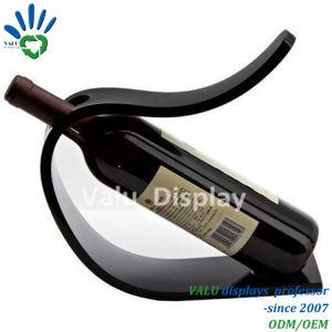 Visualizzazione acrilica della cremagliera del basamento del supporto della bottiglia di vino