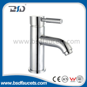 Grifos de mezclador para lavabos de agua de diseño Brassware con manija única