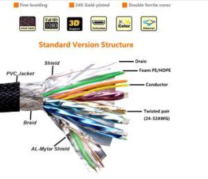 Flaches HDMI Kabel der gute Qualitätsmit 4K