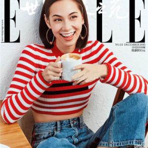 2018 nouvelles femmes bande rouge du chandail de tricots court de gros pull 7GG