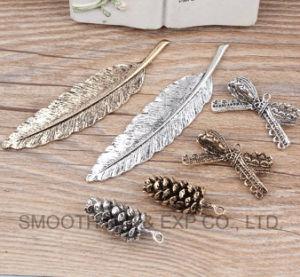 Bisutería hecha a mano colgante de hoja de plata bricolaje haciendo Collar Accesorios