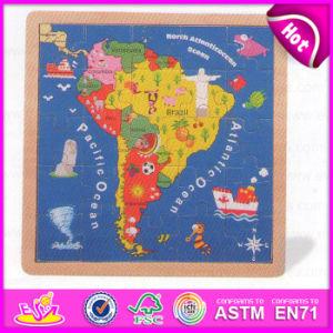 2015 Kid's Gift Brésil papier carte Puzzle, de l'éducation, de puzzle en bois jouet Carte cadeau de Noël carte Puzzle en bois W14C143