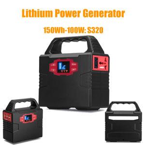Alimentation d'urgence portatif de la station d'alimentation du générateur solaire 100W
