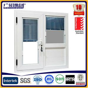 Obturador de ventana con ventana y ventana integrada