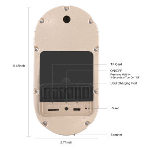 WiFi videotürklingel-Telefon-Ring-Kameras drahtloses Intercam System
