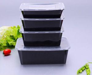 Schwarze Mikrowellen-sicherer Plastikwegwerfverpacken- der Lebensmittelbehälter