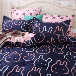 印刷された安い価格のベストセラーの寝室セットの羽毛布団カバー