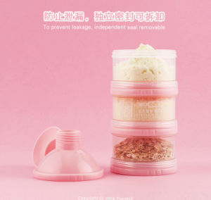 Portable 3 Boîte de poudre de lait de la couche de plastique conteneur de stockage des aliments pour nourrissons bébé boîte distributrice de poudre de lait
