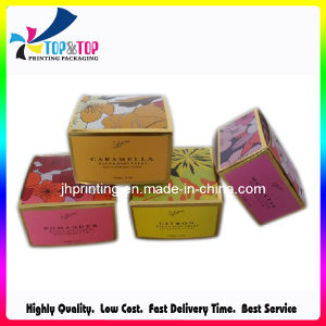 カスタムロゴの熱い押す型抜きのペーパー包装ボックス