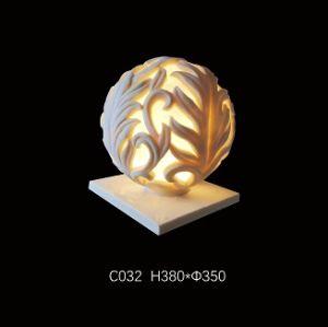 De Lamp van de Bal van het zandsteen, Standbeeld van het LEIDENE het Lichte Beeldhouwwerk van de Tuin