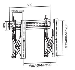 Видео нажмите для настенного монтажа VESA точная настройка Max. 400*400