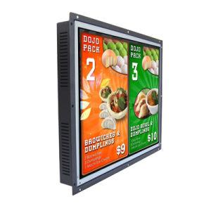 Alto brilho 12polegadas LCD/LED monitor de ecrã táctil de estrutura aberta
