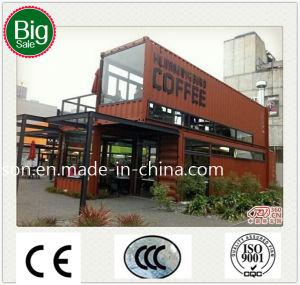 Het geschikte Mobiele Geprefabriceerde/Prefab Gewijzigde Huis/de Staaf van de Koffie van de Container