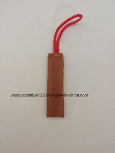 Design Debossed Etiqueta de couro para vestuário com caracteres de junção