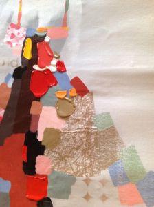 ホーム装飾のためのFigure油絵現代赤いスカートの女性