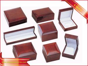 Contenitore di legno stabilito di vernice di monili lucidi del contenitore di legno