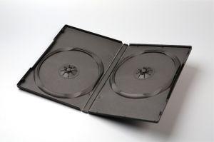 黒いDVDのケースDVDボックスDVDカバー14mm Rectange