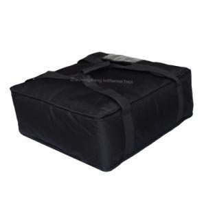 Livraison de pizza isotherme noir personnalisé boîte de refroidisseur de la nourriture chaude Sacs de livraison