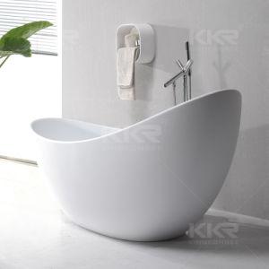 月の形の卸売価格の環境に優しい石造りの浴槽