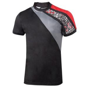 Venda por grosso de fábrica dos homens de estilo elegante Aplicar Cor de contraste T-shirt de alta qualidade