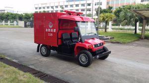 O design especial do tanque de água 2 Lugares carros de combate a incêndios elétricos