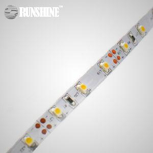 3528 indicatore luminoso di striscia flessibile di SMD 5m/Roll 60LED/M 12V 24V