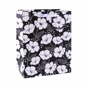 Белый цветок моды арт бумага с покрытием подарок бумажных мешков для пыли