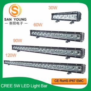Luz de LED de fileira única CREE Bar 120W Suporte Underneather