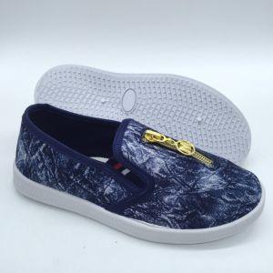 Comercio al por mayor zapatos de inyección de lienzo de ocio Zapatos calzado para niños (ZL0425-2)