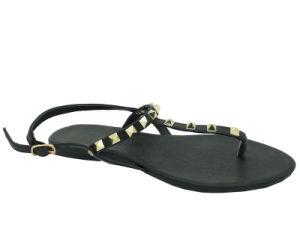 Womens Mesdames Thong Fashion bleu été plat sandale les chaussures de plage