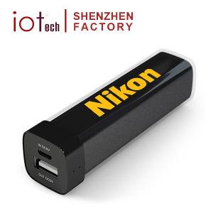 Colorido plástico marca OEM Logo batería externa portátil 2600mAh