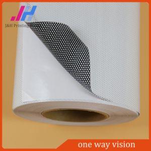 Janela perfurada Semi-Removable filme de PVC clara visão de Uma Via