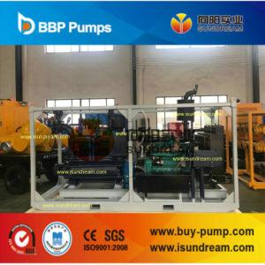 Amorçage automatique vide à l'horizontale à plusieurs stades de la pompe à eau centrifuge avec moteur Diesel