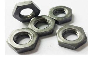 Wenzhou la fabrication de matériel en acier au carbone d'écrous hexagonaux plaqué zinc mince