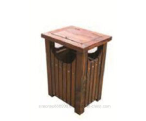 صندوق نفاية خارجيّة خشبيّة بلاستيكيّة ([هك-إكسم18د8])