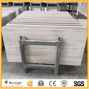 白い/Woodの木の白い大理石の床タイル