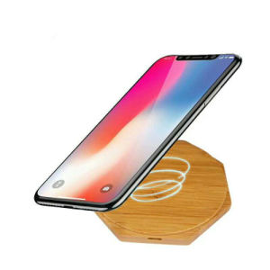 Neue Produkte Wholesale Qi-drahtlose Aufladeeinheits-bewegliche drahtlose schnelle Tischplattenaufladeeinheit für Handy-hölzerne drahtlose Aufladeeinheit für iPhone