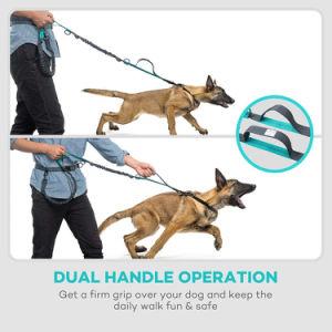 Manos libres correa de perro retráctil con doble Bungees de hasta 150 Lbs Perros Grandes
