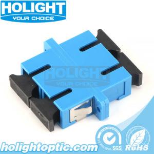Carcasa de plástico de fibra óptica SC Duplex Sm adaptador con el tipo de brida