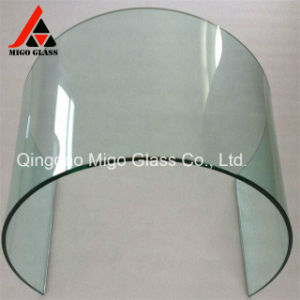Tamanho personalizado dobrados duche curva o vidro temperado