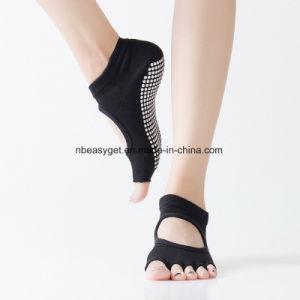 f65ac83be El Yoga calcetines antideslizantes para las mujeres, no pegajosa adherencia  Toeless patín calcetín - Pilates, Barre, el Ballet Esg10692