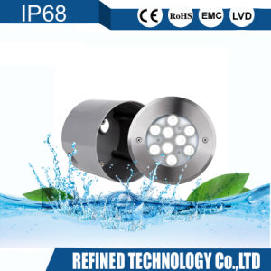 Lampada subacquea messa dell'indicatore luminoso del raggruppamento dell'acciaio inossidabile LED di Wateproof 12W 12/24V 316L