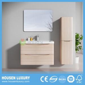 Vanità di lusso della stanza da bagno di alta qualità con il portello laminato granulare ed il rivestimento laterale HS-A1103-800