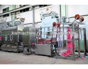 Os Cadarços elásticas tingimento contínua e máquina de acabamento