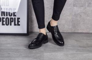 Primavera / Otoño cómodo Mens Zapatos de resbalar en negro