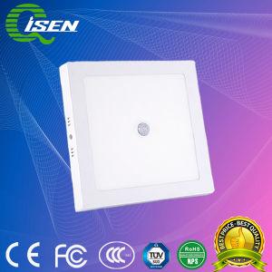 18W painel de LED do sensor de luz com superfície quadrada para iluminação interior