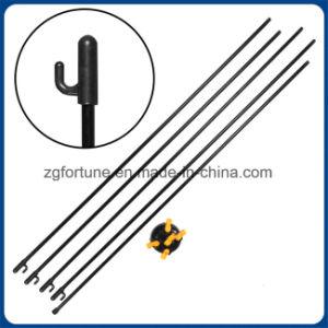 Basamento di alluminio a (colore nero-giallo) della bandiera del Palo Corea X