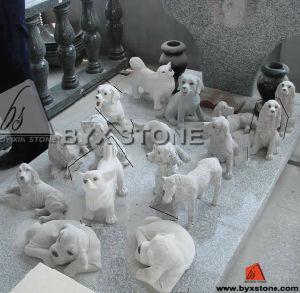 Het mooie Snijdende Standbeeld van de Hond van het Graniet van de Steen Dierlijke voor OpenluchtTuin